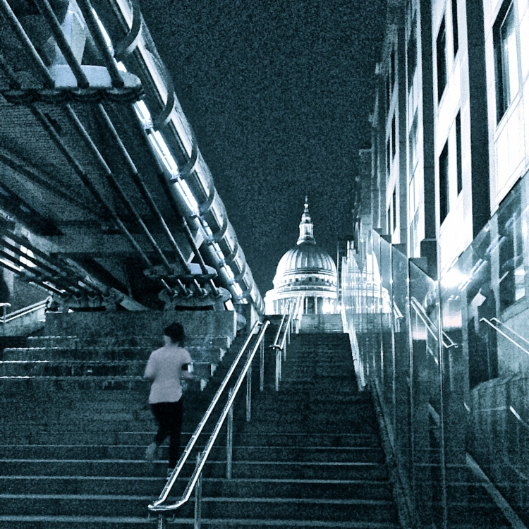 St. Paul's Cathedral from under Millennium Bridge